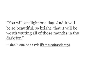 light, quote, and hope image
