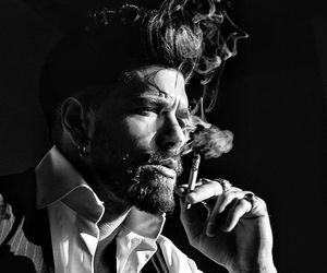 cigarette, male, and earring image