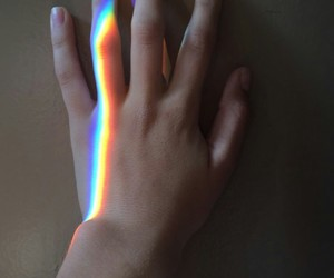 rainbow, alternative, and hand image