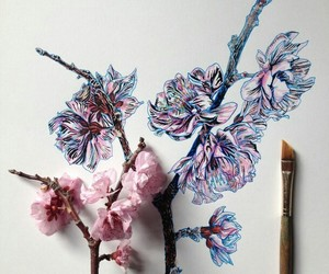draw, flowers, and natural image