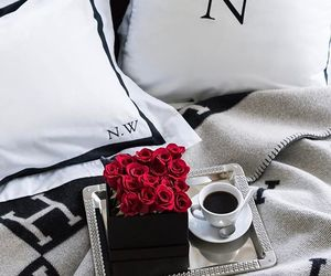 coffee, flowers, and red image