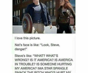 black widow, captain america, and funny image