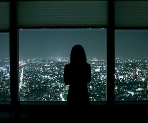 girl, tumblr, and night image