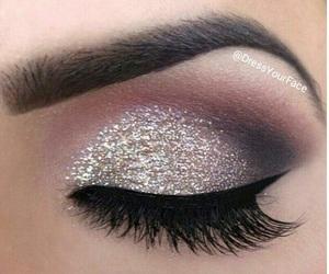 makeup, make up, and silver image