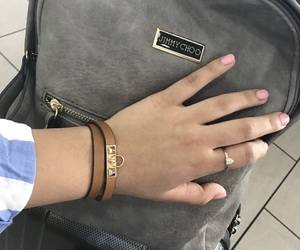 airport, bag, and bracelet image