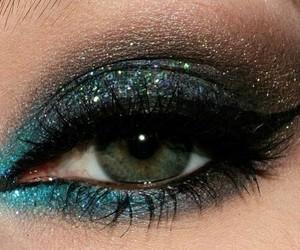 glitter, black, and blue image