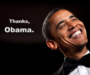 obama, president, and thank you image