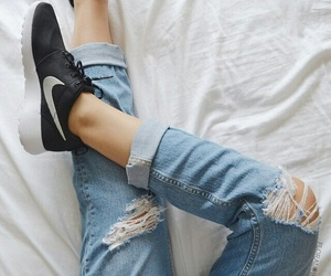nike, fashion, and jeans image