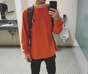 cameron dallas, boy, and orange image