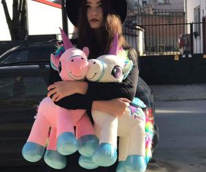 unicorn, girl, and tumblr image