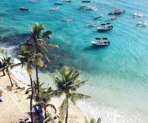 beach, barcos, and mar image