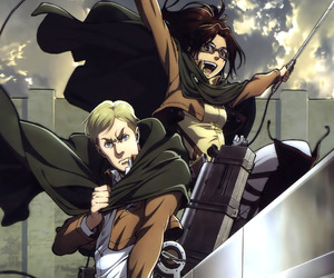 attack on titan, erwin smith, and anime image