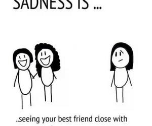 sadness, sad, and friends image