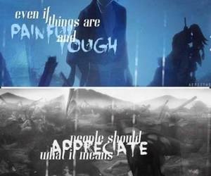 anime, pain, and quote image