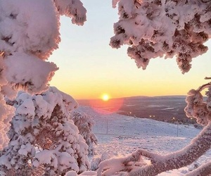 snow, nature, and sun image