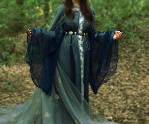 dress, medieval, and nature image