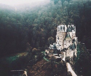 castle, nature, and forest image