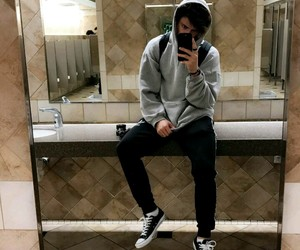 bathroom, boy, and guy image