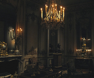 candles, old, and chandelier image