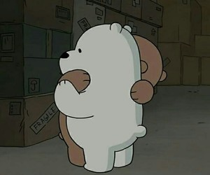 bear, we bare bears, and hug image