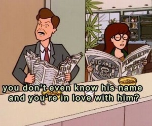 Daria, love, and cartoon image