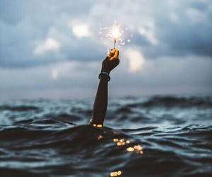light, sea, and ocean image