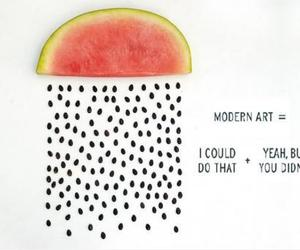 art, funny, and watermelon image