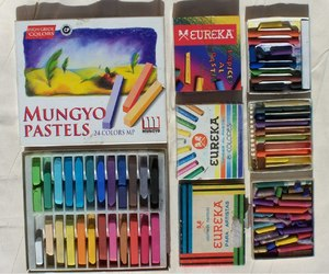 art, pastels, and happy image