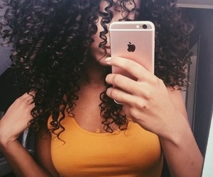curly, hair, and curls image