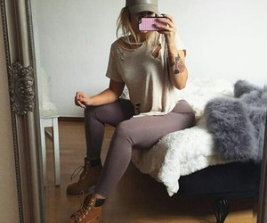 boots, girl, and mobile image