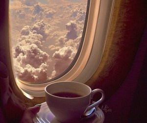 travel, clouds, and coffee image