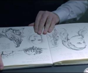 art, dark, and drawing image