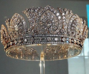 crown, silver, and Swarovski image