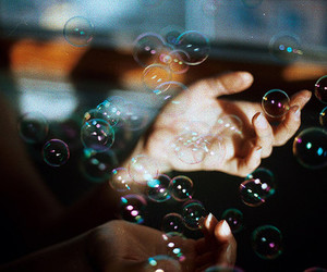 bubbles, hands, and photography image