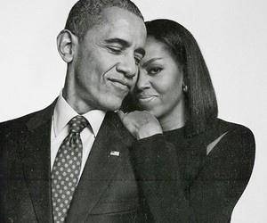 obama, michelle obama, and barack obama image