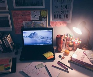 office, study, and studying image