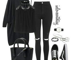 Polyvore, black, and outfit image