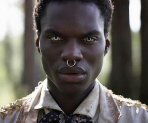 black, boy, and eyes image