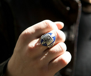 damon, ring, and stefan image