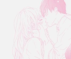 kiss, blush, and manga image