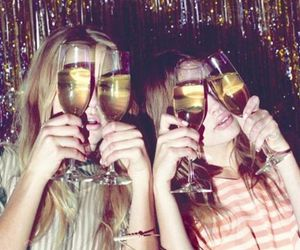girl, party, and champagne image