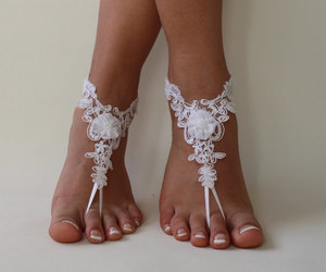 etsy, bridesmaid gift, and barefoot sandals image