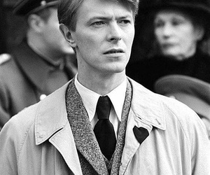 black and white, david bowie, and london image