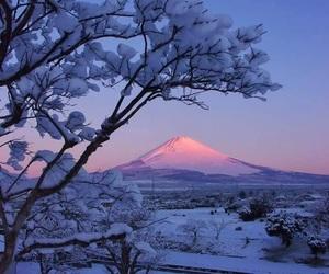 japan, snow, and fuji image