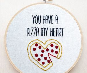 embroidery, pizza, and hoop art image