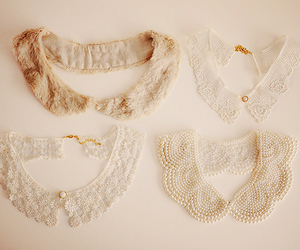 collar, vintage, and white image