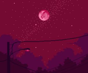 moon, artsy, and night image