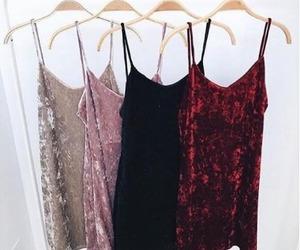 dress, fashion, and velvet image