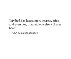 bed, lies, and quotes image
