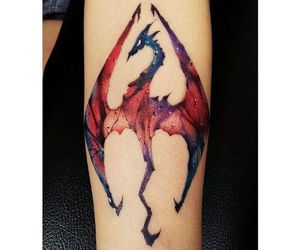 colors, dragon, and red image